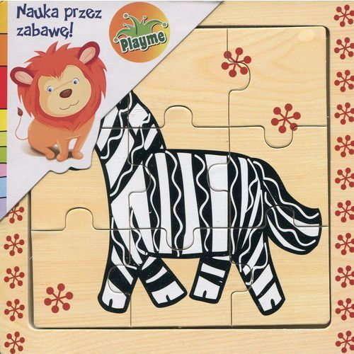 Brimarex Puzzle drewniane układanka zebra 9 elementów