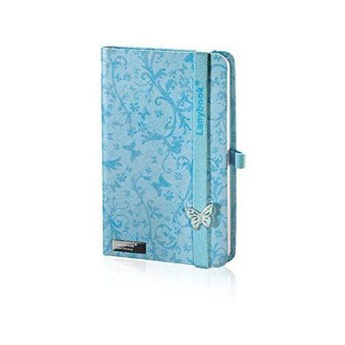 Notes a6 lanybook butterfly spirit w kratkę niebieski marki Lediberg