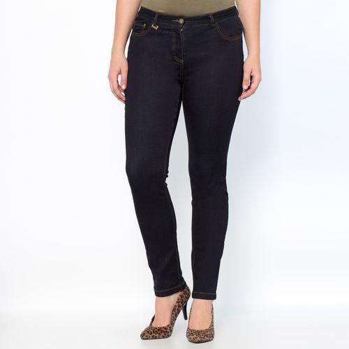 Streczowe dżinsy slim obfite kształty wewn. dł. nogawki. 73 cm, jeansy