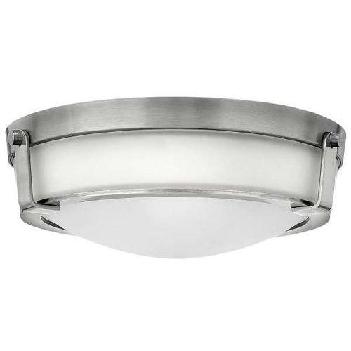 Hinkley Plafon lampa sufitowa hk/hathaway/f/mn elstead natynkowa oprawa klasyczna outdoor okrągła zewnętrzna ip44 nikiel biała (5024005289111)