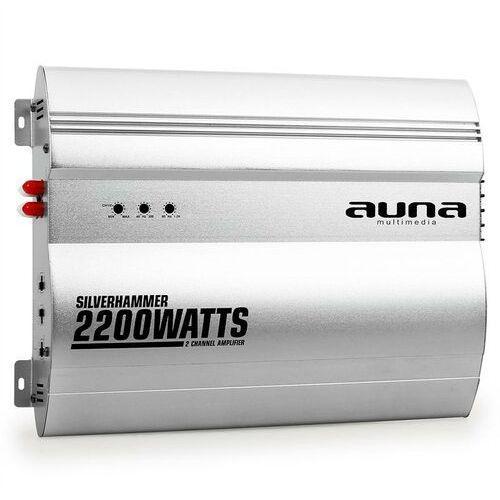 silverhammer 2-kanałowy wzmacniacz samochodowy 2200w marki Auna