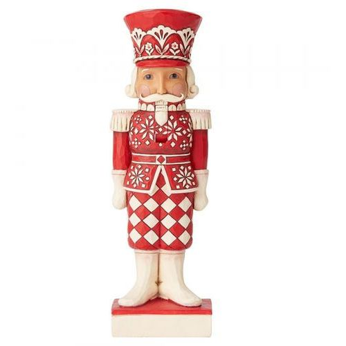 Kolekcjonerski dziadek do orzechów mikołaj greetings from the guard (nordic noel nutcracker figurine) 6004230 figurka ozdoba świąteczna marki Jim shore