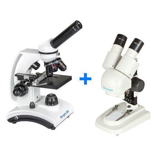 Mikroskop Delta Optical BioLight 300 + Mikroskop stereoskopowy StereoLight