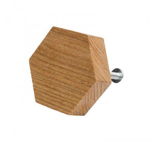 Home-idea Premium gałka do mebli heksagon drewniany