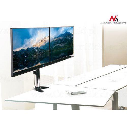 Uchwyt biurkowy do dwóch monitorów lcd  mc-714 13-27