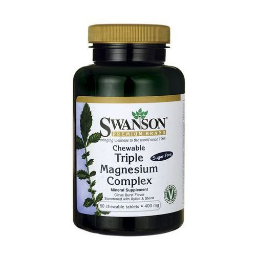 Swanson Triple Magnesium Complex 400mg 60 tabletek do ssania