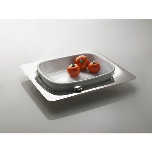 - stalowa taca z żaroodpornym naczyniem prostokątnym marki Casa bugatti