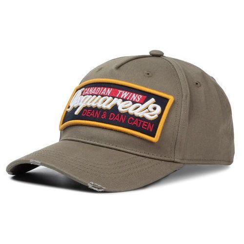 Czapka z daszkiem - patch cargo baseball caps bcm0249 05c00001 8066 militare marki Dsquared2
