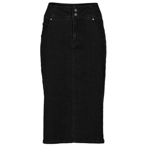 "Spódnica ze stretchem bonprix czarny ""stone"", kolor czarny"