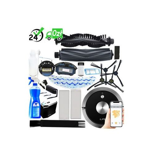 Ilife A9s robot sprzątający + chemia zestaw ✔sklep specjalistyczny ✔karta 0zł ✔pobranie 0zł ✔zwrot 30dni ✔raty 0% ✔gwarancja d2d ✔leasing ✔wejdź i kup najtaniej (6971263070243)