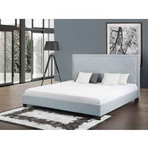 Łóżko błękitne - łóżko tapicerowane - 160x200 cm - MARSEILLE