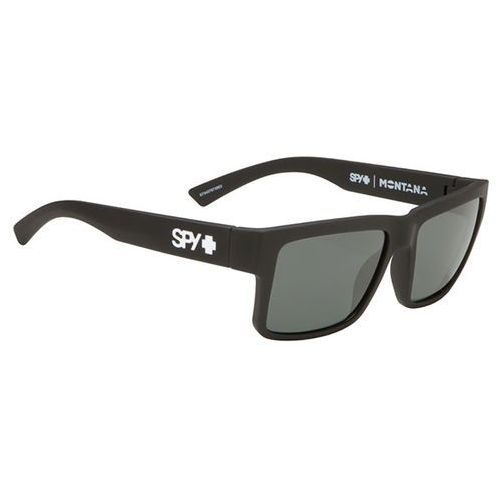 Okulary słoneczne montana polarized soft matte black - happy grey green polar marki Spy