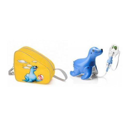Wysokiej jakości INHALATOR dla dzieci Philips Respironics Sami the Seal (foczka) z nebulizatorem SideStream Durable do dezynfekcji