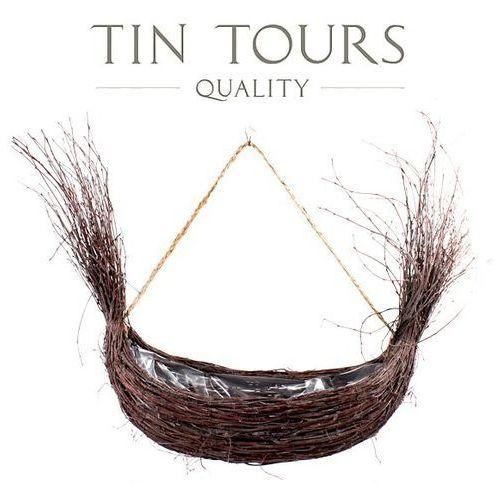Owalny koszyk z liści palmy 28x20x8h cm - różne kolory marki Tin tours sp.z o.o.
