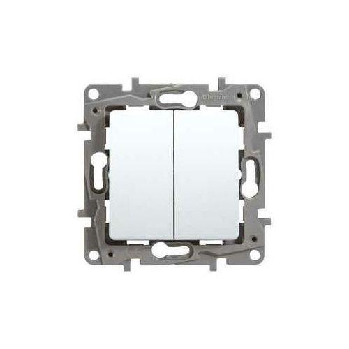 Łącznik schodowy z przyciskiem pojedynczym Legrand Niloe 764509 biały, 764509