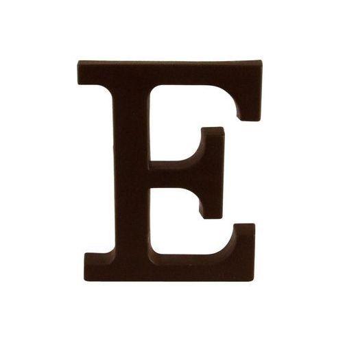 Litera E wys. 9 cm PVC brązowa (5906711274851)