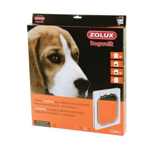 Zolux drzwiczki 4-pozycyjne dla średnich psów kol. biały - darmowa dostawa od 95 zł! (3336024010846)