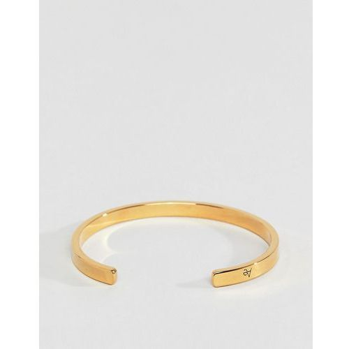 E cuff bracelet in antique gold - gold marki Aetherston