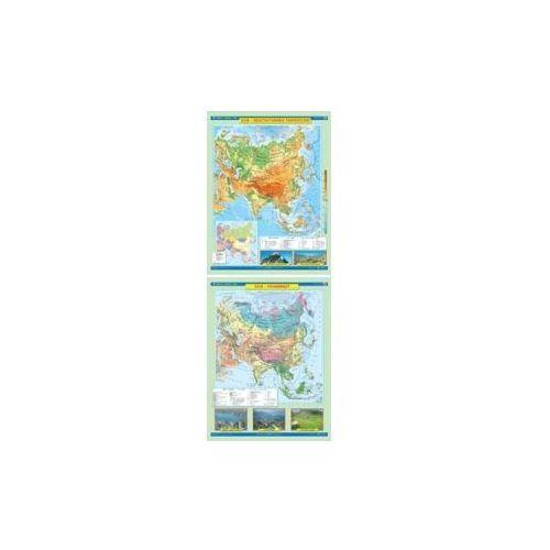 AZJA Mapa Ścienna. Ukształtowanie Powierzchni/Krajobrazy. Skala 1 : 10 000 000