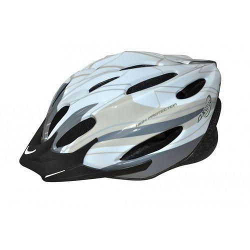 Axer sport Kask rowerowy axer bike voyager shiny white silver (rozmiar m) + zamów z dostawą w poniedziałek!