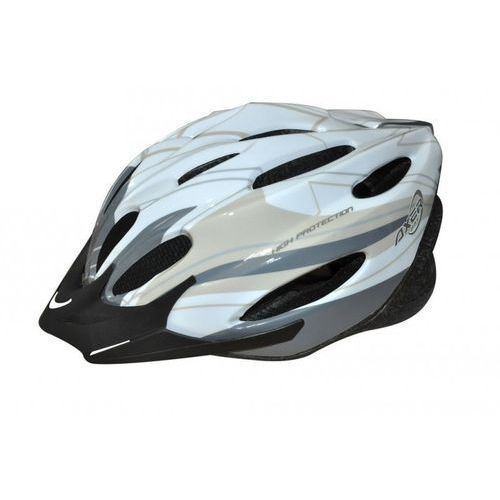 Axer sport Kask rowerowy axer bike voyager shiny white silver (rozmiar m)