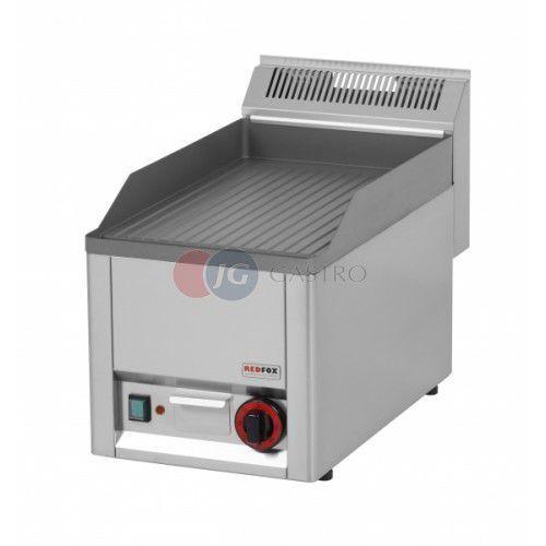 Płyta grillowa elektryczna pojedyncza ryflowana Red Fox linia 600 FTR 30 EL