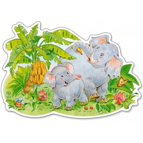 Puzzle 12 elementów playing elephants marki Castor