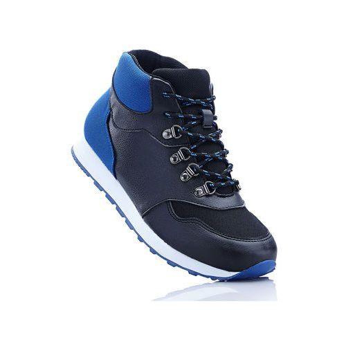 Wysokie sneakersy bonprix czarno-lazurowy, w 8 rozmiarach