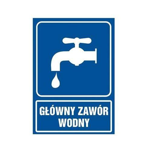 Znak Główny zawór wodny