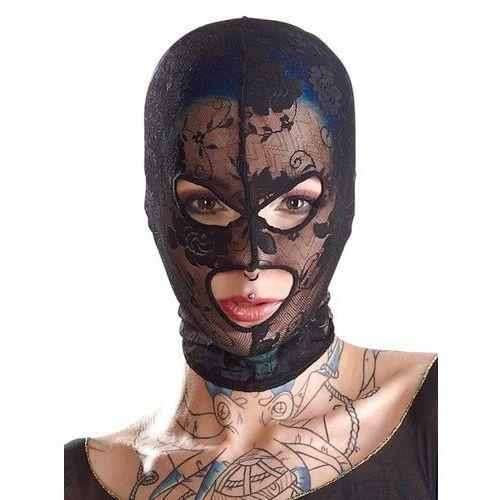 Koronkowa maska na głowę 3 otwory | 100% dyskrecji | bezpieczne zakupy marki Bad kitty
