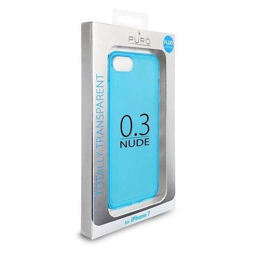 Puro Etui 0.3 nude do iphone 7 fluo blue