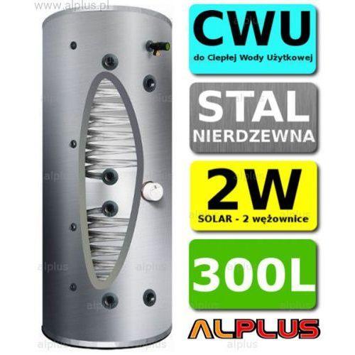 Bojler JOULE CYCLONE 300L SLIM 2-wężownice 2W wysoki i wąski, nierdzewka wymiennik podgrzewacz CWU Wysyłka GRATIS