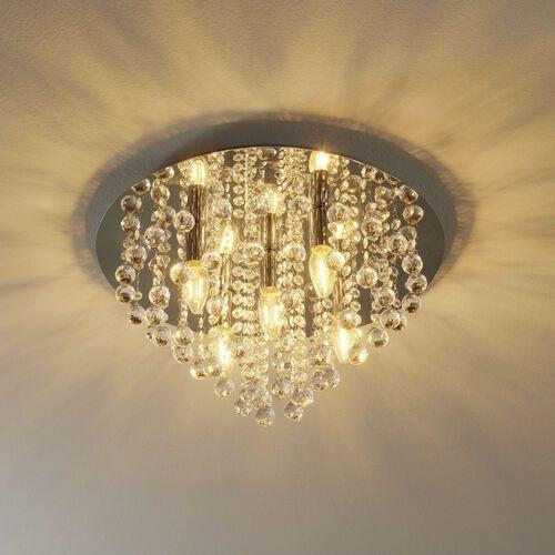 Reality Plafon lampa kryształowa sufitowa london 5x40w e14 chrom 607205-06 >>> rabatujemy do 20% każde zamówienie!!! (4048194015260)