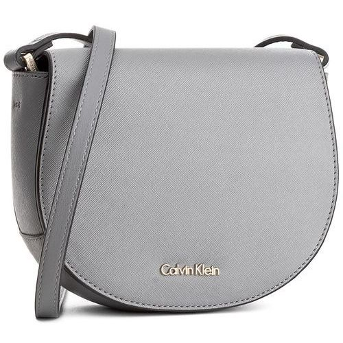 Torebka CALVIN KLEIN BLACK LABEL - Marissa Saddle Bag K60K603650 002, kolor szary