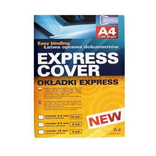 Argo Okładka bindowania czarna 9,5mm ekspress 8szt.