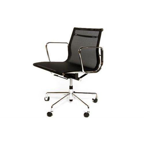 D2.design Fotel biurowy ch inspirowany ea117 siateczka chrom - czarny (5902385703109)