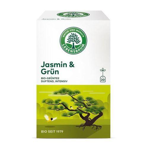 Herbata zielona jaśminowa ekspresowa bio (20 x 1,5 g) - lebensbaum marki Lebensbaum (przyprawy, herbaty, kawy)