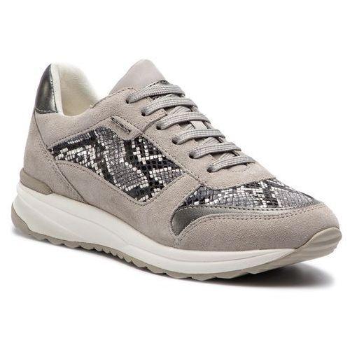 Sneakersy GEOX - D Airell C D642SC 04122 C0127 Black/White, w 7 rozmiarach