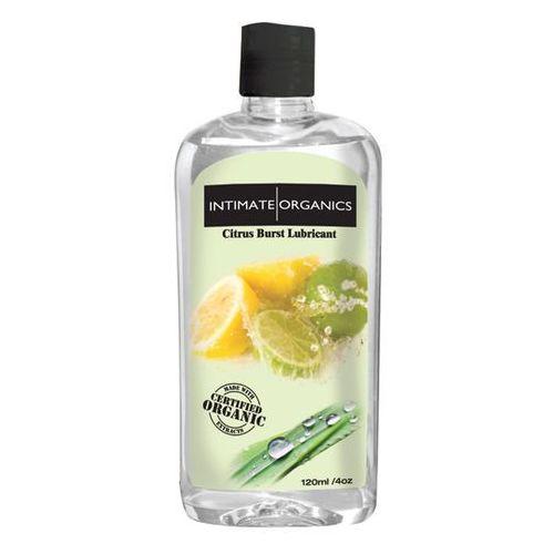 Smakowy żel nawilżający - citrus burst lube 120 ml cytryna i limonka marki Intimate organics
