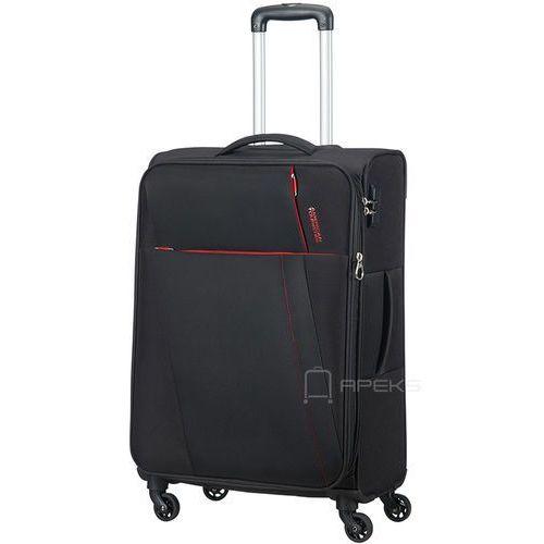 American tourister joyride średnia poszerzana walizka 69 cm / czarna - obsidian black (5414847781773)