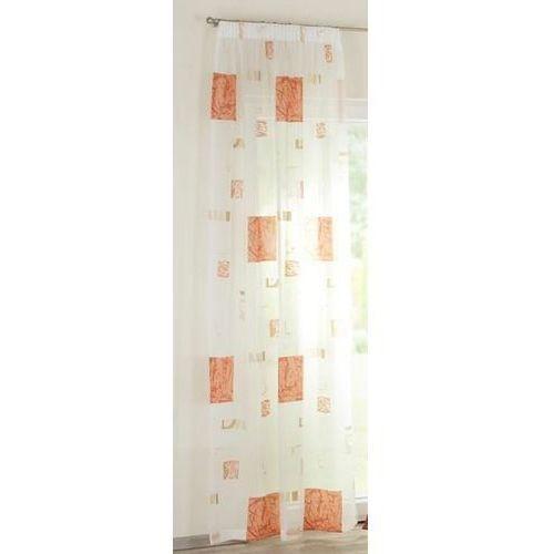 Dekoria Firana na taśmie ecru we wzory 130x250, 130x250 z kategorii Firany