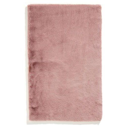 Dywaniki łazienkowe z miękkiego materiału bonprix dymny różowy