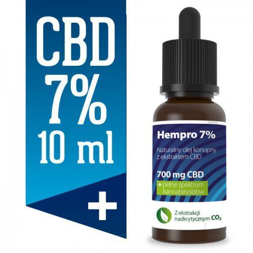 Olejek konopny cbd 7% 10 ml bio marki Hempro