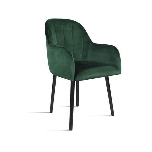B&d Krzesło besso zielony/ noga czarna/ so260