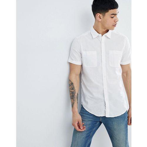 regular fit shirt in cotton linen blend - white, Esprit, S-L