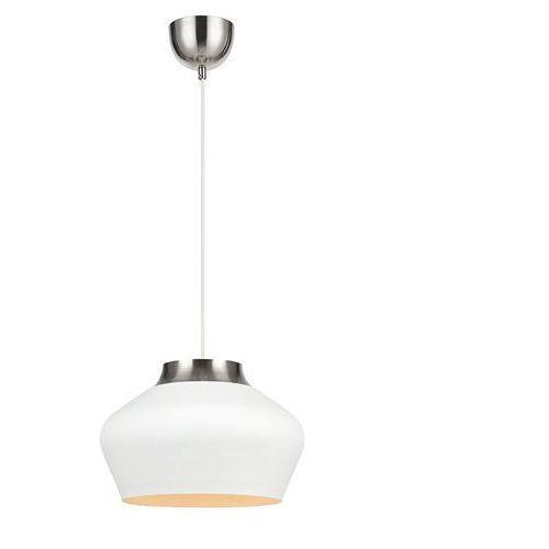 Lampa wisząca kom 107379 zwieszana oprawa metalowa biała marki Markslojd