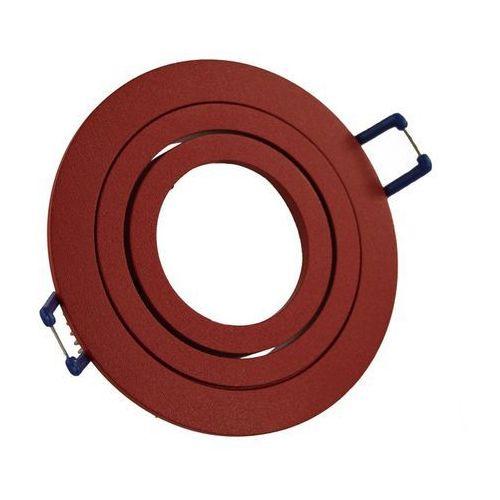 Oprawa sufitowa aluminium okrągła ruchoma czerwona marki Ledart