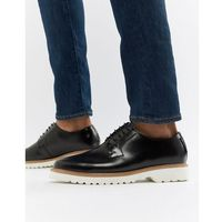 high shine lace up shoes in black leather - black, Ben sherman