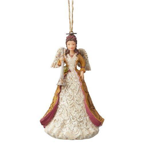 Jim shore Anioł z trąbką zawieszka victorian angel with horn (hanging ornament) 6004186 figurka ozdoba świąteczna