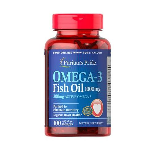 Puritan's pride Olej rybi omega3 1000mg omega3 fish oil 100 kapsułek  (2552501002437)